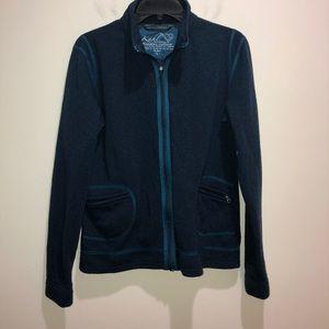 Kuhl Size L Blue/Green Zip Front Fleece